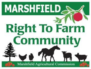 Marshfield Right to Farm Community SIgn